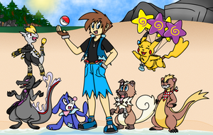 Alola Pokemon Team