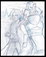 elric brothers sketch by fanartbr