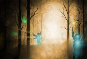 Forest Fairies by Pittyputty