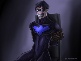 Nightwing Captured (Colored) by boundaru