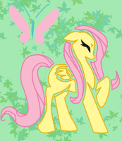 Fluttershy Silohuette by CCKittyCreative