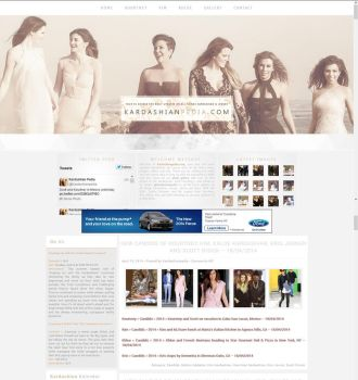 Kardashian Wordpress Theme by BurningBrightDesigns