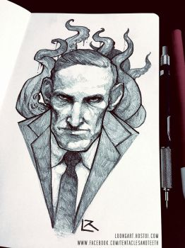 Lovecraft Sketch by TentaclesandTeeth