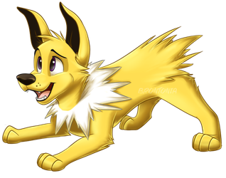 Jolteon Doggo by Brontonia