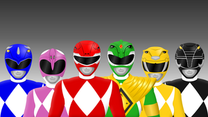 Original Mighty Morphin Power Rangers by Yurtigo