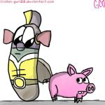 Larryboy and Spiderpig by Trollan-gurl22