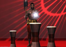 Shango, King of the Drums and Thunder by Shango-ThunderStones