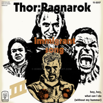 Thor Ragnarok Immigrant Song LP Cover by khriztian