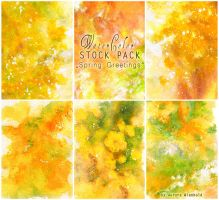 Spring Greetings - WATERCOLOR STOCK PACK by RoryonaRainbow