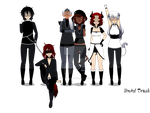 Soul Eater AU- Soulless-The Elite Team of KWDWMA by Sinful-Trash