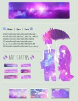 Anime Galaxy Custombox by My-test-accountt