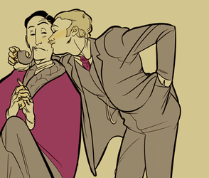 holmes and watson by PollyGuo