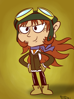 Pilot Girl by rachetcartoons