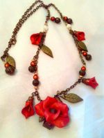Necklace made with fimo by sississweets