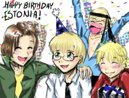 APH: Happy Birthday Estonia by K-haza