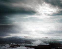 STORM AT SEA BG STOCK V by ArwenArts