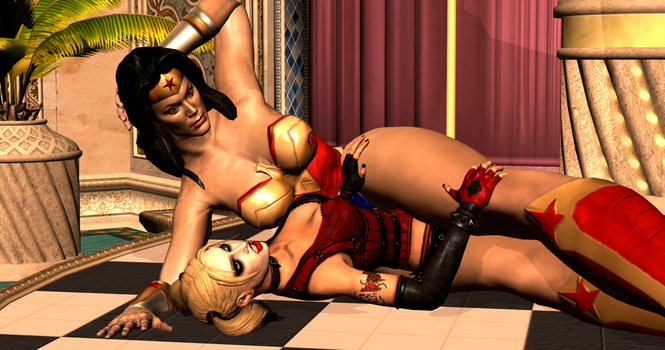Harley Quinn Subdued 4/4 by 3DCatfights