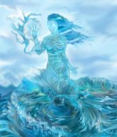The Water Elemental Undine by Xzeromus