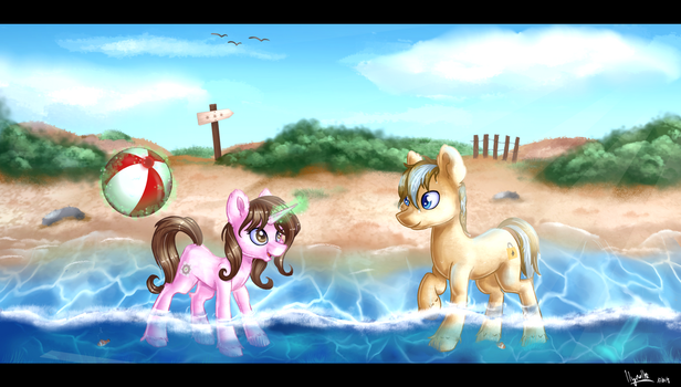 Sunshine and Seacost by Ilynalta