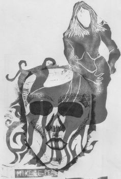 Skull+figure Bw 1 by Mike-Le-Pearce