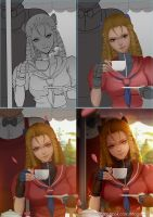 Street Fighter Karin Process by magion02