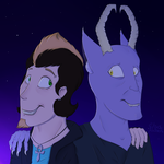 Dolvin and Galiel by Chaos-Illusions
