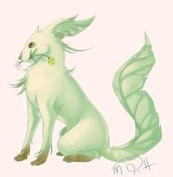 Leafeon by MorganToddArt