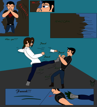 Masterghost vs Superboy Fight page 3 by MasterghostUnlimited