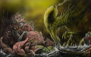 Cthulhu v The Trumpwich Horror by fiend-upon-my-back