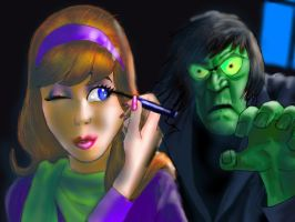 Daphne, Watch Out...HE'S BEHIND YOU!!! by Hognatius