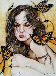 Monarch Keeper Fairy by artwoman3571