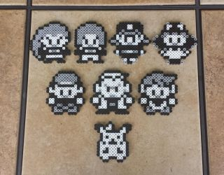 Red/Blue Sprites - Pokemon Perler Bead Sprites by MaddogsCreations