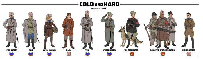 Cold and Hard: Character Lineup by MasterDoodleJoe80062