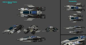 SXr3 Recon Fighter Concept by nach77