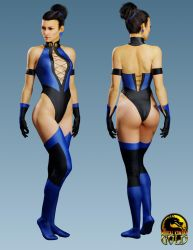 Kitana - Mortal Kombat Gold by ZabZarock