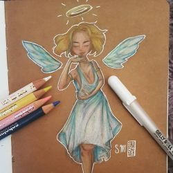 An Angel With The Devil's Kiss by artsy-flooter