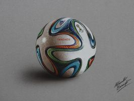 Brazuca ball DRAWING by Marcello Barenghi by marcellobarenghi