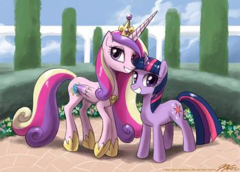Twilight and Princess Cadance by johnjoseco