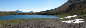 Estaris lake panorama by Momotte2