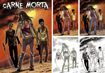 Carne Morta NOVEL COVER by vicas-art