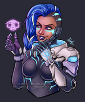 Overwatch: Cyberspace Sombra by Lukael-Art