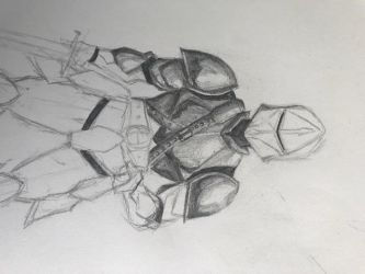 Nighttime Knight WIP by Metachion