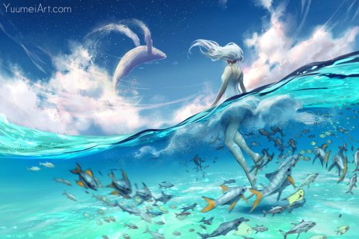 Our Blue Planet by yuumei