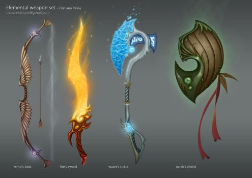 Elemental weapons by CristianoReina