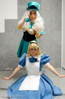 Alice and hatter girl by clefchan