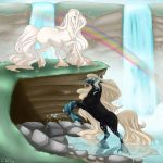 Trade Elen and Aenil by DragonsFlameMagic