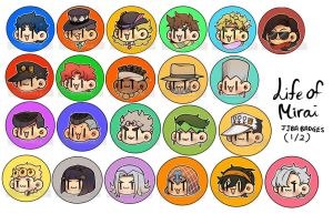 = JJBA 1-5 Badges = by DoritoMeatbag