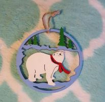 Polar Bear Christmas Ornament by CrimsonsCreations