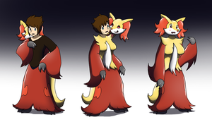 Delphox Living suit - (Delphox TF TG) by Avianine