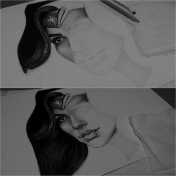 Wonder Woman WIP by anabdero